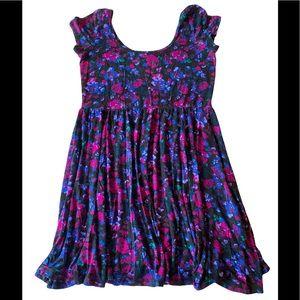 Garage - Mini Purple floral skater dress